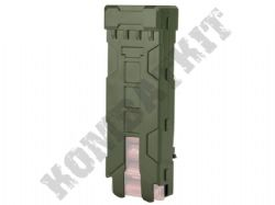 Shotgun Shell Cartridge Carrier MOLLE or Belt Clip Spring Fed Green OD Resin